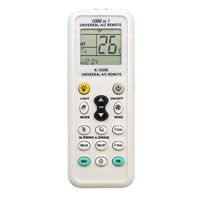 VIRCIA K-1028E 14 Keys Universal Air Conditioner AC Remote Control Controller With Back Light Function With Retail Package